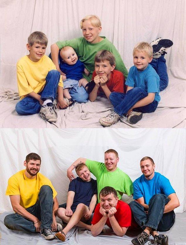 """20. """"4 kardeşimle 1997'de ve 2017'de."""""""