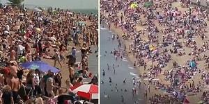 Koronavirüs Salgınını Hiçe Sayarak Plajları Dolduran İngilizlerin Tepki Çeken Görüntüleri