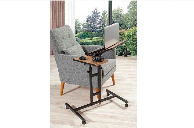 10. Çalışma masanızı her yere taşımak isterseniz, şöyle portatif bir şey sizin için harika olur.