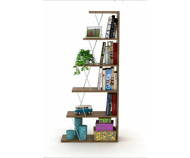 4. Zaten çalışma masanız varsa ıvır zıvır eşyalarınızı toplaması için şöyle bir kitaplık satın alabilirsiniz.