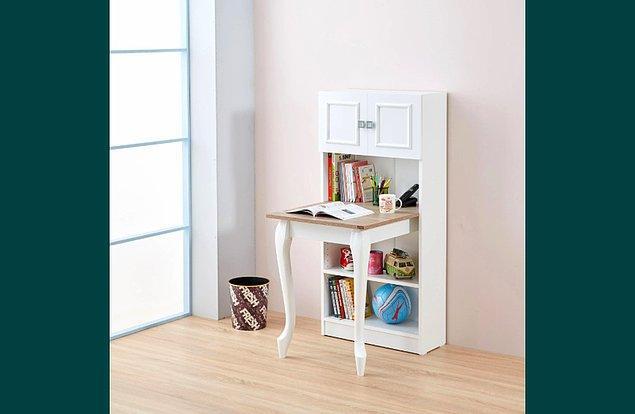 3. Ancak eviniz küçükse ve çok fazla yer ayıramayacaksanız bu minik masa sizin için ideal olabilir.