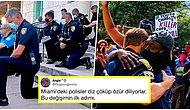 Protestocu Gruplar Geldiği Zaman Dizlerinin Üzerine Çöküp Özür Dileyen Miami Polisi Tüm Dünyaya Örnek Oldu!