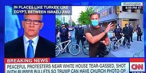 CNN Yayınına Bağlanan Gazeteciden Polis Şiddeti Yorumu: 'Bu Gibi Korkunç Görüntüleri Ben Türkiye'de Gördüm'