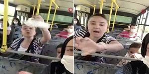 Otobüste Maske Takmayan Kadın, Kendisini Uyaran Yolculara Saldırdı