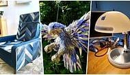 Eşyaları Çöpe Atmak Yerine Geri Dönüştürerek Yaratıcılıklarını Konuşturmayıp Dört Nala Koşturmuş 20 Kişi