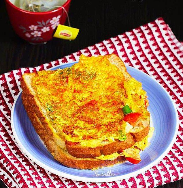6. Hem karbonhidrat hem protein deposu: Yumurtalı tost