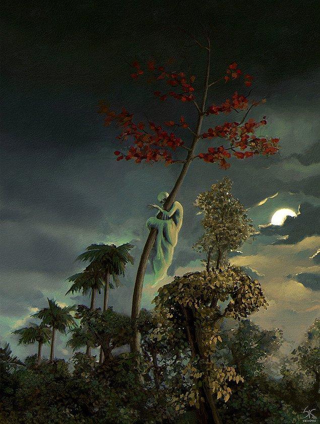 17. Ağaç hayaletleri gece ortaya çıkan hayaletlerdir. Herhangi ormanlık bir alan gece yürürken ağaca bakarsanız, ruhunuzu ele geçirip sizin yerinize geçme özelliğine sahip olurlar.