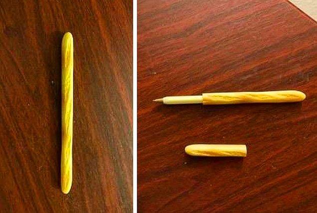 10. Baget şeklinde olan bir tükenmez kalem: