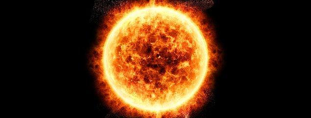 8. Güneş her saniye 4 milyon metrik ton kütle kaybeder.