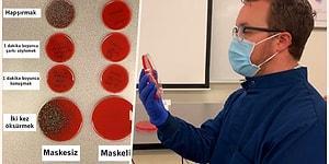 Maske Takmanın Ne Kadar Büyük Bir Fark Yarattığını Yaptığı Deneyle Sosyal Medyada Paylaşan Bilim İnsanı