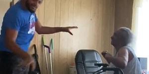 Bakımını Üstlendiği Yaşlı Kadına Moral Vermek İçin Karşılıklı Dans Eden Müthiş İnsan