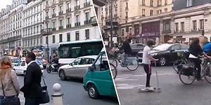 Paris Trafiğinin 2012 ve 2020 Yıllarından Karşılaştırmalı Görüntülerini İzlerken Hayran Kalacaksınız