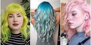 Denedikleri Saç Renkleriyle Çılgınlıkta Çığır Açarken Güzelliğine Güzellik Katan Cesur Kadınlar