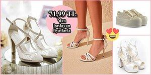 Gelinler Koşun! Cinderella'yı Bile Kıskançlıktan Çatlatacak Her Tarza Uygun 23 Gelin Ayakkabısı