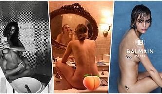 Instagram'da Paylaştıkları Çıplak Pozlarla Tüm İlgiyi Üzerine Çekip Sansasyon Yaratan Dünyaca Ünlü 22 İsim