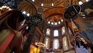 Ayasofya'da İlk Cuma Hazırlığı: Mozaik ve Freskler Perde ile Kapatılacak