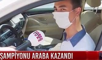 'Birinci Olursan Arabam Senin' Diyen Öğretmen, YKS'de 1. Olan Gürkan İnal'a Arabasını Hediye Etti