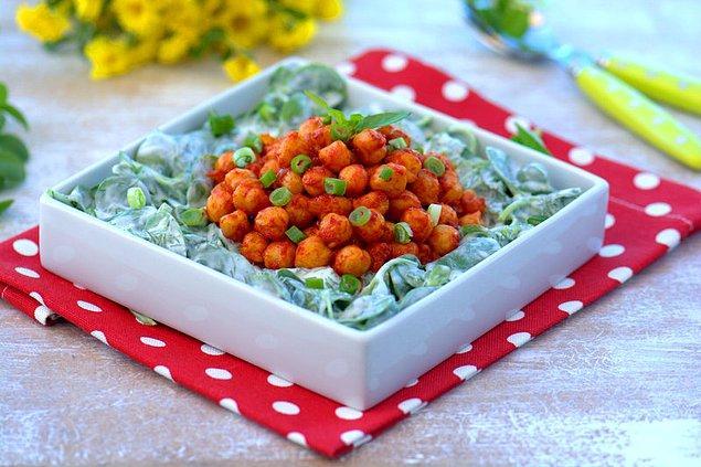 5. Nohutlu semizotu salatası