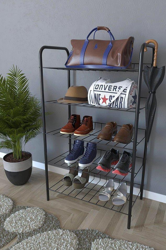 9. Ayakkabılarınızı girişteki bu raflara koyabilirsiniz.