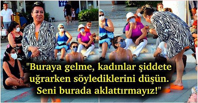 2. İstanbul sözleşmesi için oturma eylemi yapan kadınların arasına katılmaya çalışan Murat Övüç, geçmişteki kadınlara yönelik söylemleri yüzünden eylemden kovuldu!