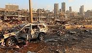 Beyrut'ta Meydana Gelen Patlamanın Arkasında Bıraktığı Enkazın Havadan Kaydedilen Görüntüleri