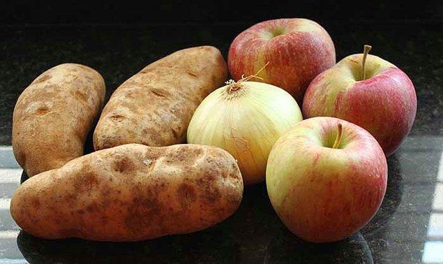 5. Bilmiyoruz daha önce duymuş muydunuz; kokusu ve görüntüsü olmadan bir patatesi, elmayı veya soğanı yiyecek olursak üçünden de alacağımız tat aynı olacaktır.
