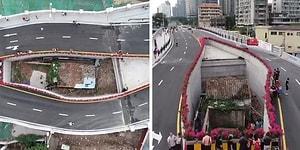 Çin'de Bir Ev Sahibi Taşınmayı Reddettiği İçin Köprüyü Evin İki Yanından Geçirdiler