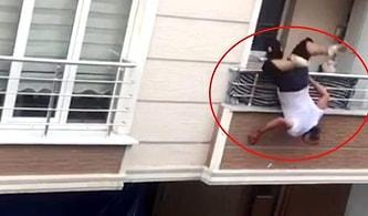 Kavga Sırasında Karşısındakine Tencere Atmaya Çalışan Adam Balkondan Düştü