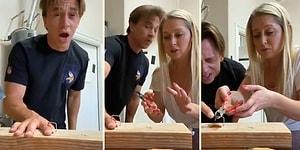 Parmağına Zımba Batma Şakası Yapan Adam, Eşinin Beynine Mavi Ekran Verdirtti