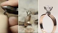 Tek Taş Yüzüğün Yapım Aşaması Sırasında Kaydedilen Hipnoz Edici Görüntüler