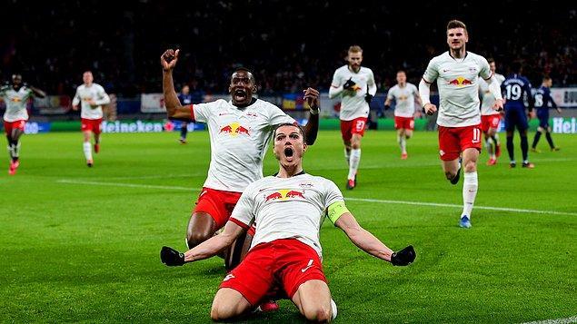 Şampiyonlar Ligi'nde Çeyrek Final'e yükselen asırlık kulüplerin arasında bir milenyum takımı: RB Leipzig.