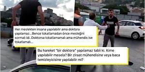 """Trafikte Kızdığı Kadının Arabasının Camını Kıran Magandaya """"Bir Doktora Yapılacak İş mi?"""" Diyen Nevzat Çiçek'e Gelen Tepkiler"""