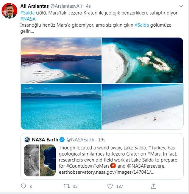 """Burdur Valisi Ali Arslantaş'ın, """"Çıkın çıkın Salda Gölü'ne gelin"""" çağrısı tepkilere neden olmuştu 👇"""