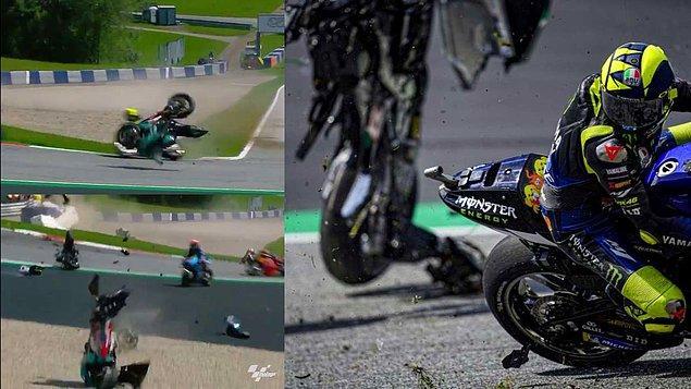 MotoGP'de 2020 takviminin dördüncü yarışı olan Avusturya Grand Prix'sinde Avintia Ducati pilotu Johann Zarco ile Yamaha pilotu Franco Morbidelli'nin karıştığı kaza korku dolu anların yaşanmasına sebep oldu.