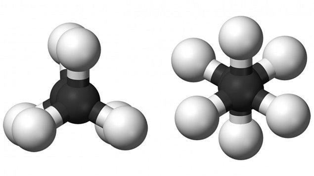 Örnek olarak metan tabii gazların temel maddesidir.