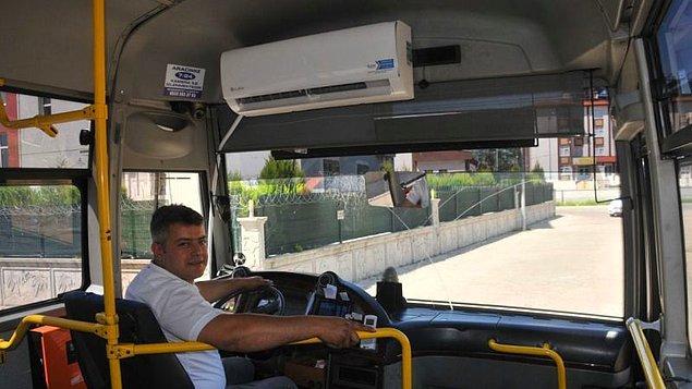 Kliması çalışan toplu taşıma araçları