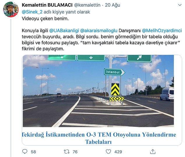 2. Videoyu paylaşan kişi de orada bir İstanbul tabelası olduğunu ama köşede olduğunu belirtti.