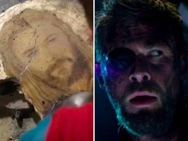 6. 'Thor: Ragnarok' filmindeki Asgardiyan duvar resminde Thor'un filmin devamında alacağı yara bizlere önceden gösterilmiştir.