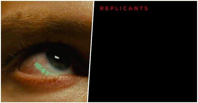 11. 'Blade Runner 2049' tüm replikantların yukarı ve sola bakılarak ortaya çıkarılabileceği cümlesiyle başlar...