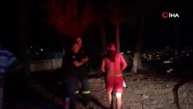 Polis ekipleri ağaçları yakan adamı gözaltına aldı