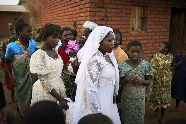 Malavi, dünyanın en fazla çocuk gelinlerine sahip ülkesi.