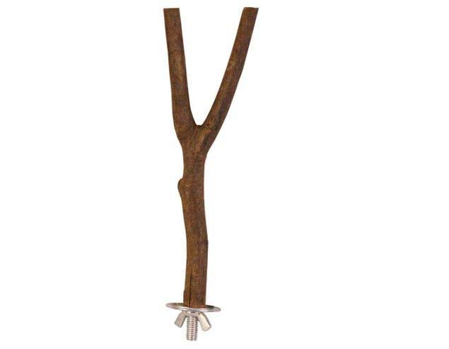 5. Vida ve somunla sabitlenen doğal ağaçtan tünek:
