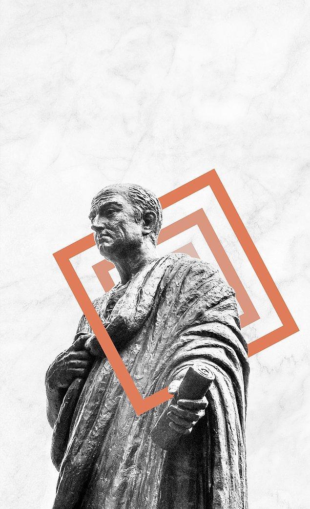 Latin dilinin felsefenin dili olarak gelişmesine katkıda bulunan, agnostik, Romalı büyük hatip, bilgin, devlet adamı ve yazar Cicero da devlet düşmanlığından dolayı başı kesilerek idam edilenlerdendi.