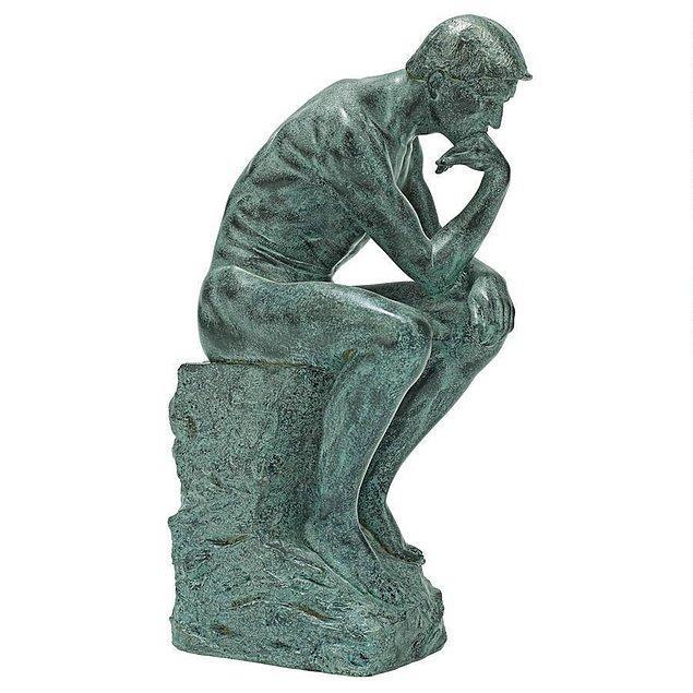 """Rodin'in """"Düşünen Adam"""" heykeli biblosu"""