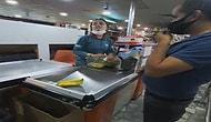 Maske Takmayan Kasiyer ile Müşteri Tartıştı: 'Bas Git'