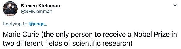 """11. """"Marie Curie: İki farklı bilimsel araştırma alanında Nobel Ödülü alan tek kişi."""""""