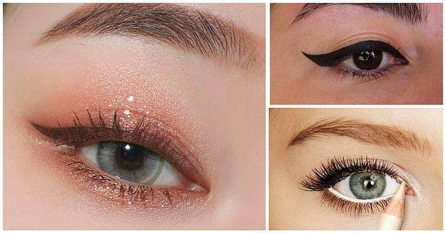 Küçük Gözler: Gözleri belirginleştirmek için göz kenarına odaklanın.