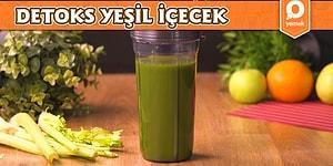 Mevsim Mahsullerini Değerlendirmenin Sağlıklı Yolunu Bulduk! Lezzetli Detoks Yeşil İçecek Nasıl Yapılır?
