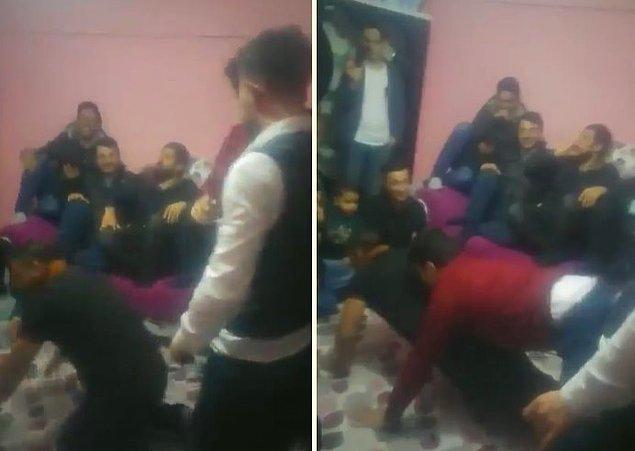 Erzurum'un yöresel oyunu olduğu iddia edilen oyunda, erkeklerden birisi şınav pozisyonu alıyor ve bir başka erkek de arkasına geçerek kalçasıyla sert bir şekilde, şınav pozisyonu alan kişinin götüne vuruyor.