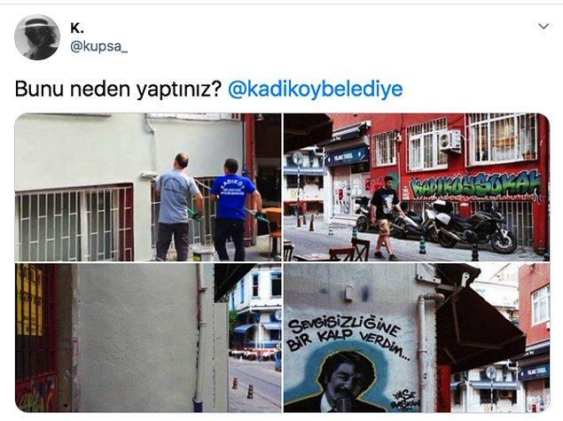 Duvarların bu son halini gören sosyal medya kullanıcıları ise Twitter'dan böyle tepki gösterdiler.